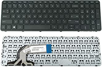 US Keyboard for HP 15-f211wm 15-f272wm 15-f278nr 15-f233nr 15-f224wm with Frame + Clear ProtCector Cover