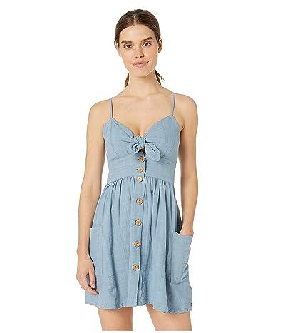 Roxy Under the Cali Sun Texture Woven Dress (Blue Shadow) Women