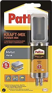 Pattex Kraft-Mix metaal, metaalverf uithardende 2-componenten epoxy lijm op basis van epoxyhars, sterke lijm voor het verl...