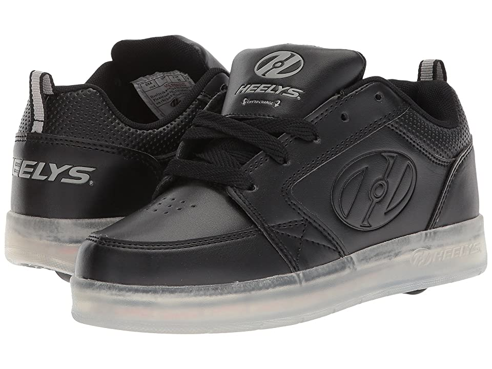 Heelys Premium 1 Lo (Little Kid/Big Kid/Adult) (Black-T) Kids Shoes