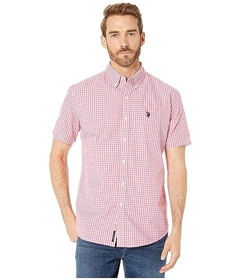 Boys Long Sleeve Gingham Woven Shirt Polo Assn U.S
