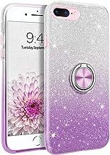 BENTOBEN iPhone 8 Plus Case, iPhone 7 Plus Case, Sparkly Glitter Slim Phone Case with 360° Ring Holder Kickstand Car Mount...