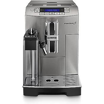 DeLonghi ECAM28.465.MB Primadonna Cafetera espresso automática, compacta, con depósito de leche, 1450 W, 1.8 L, 2 tazas, acero Inoxidable, plateado: Amazon.es: Hogar