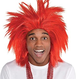 Amscan Crazy Wig, Party Accessory, Red