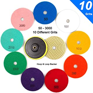 ADVcer Wet Diamond Polishing Pads Set, 4