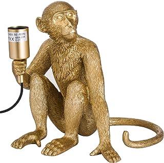 Hill 1975 George The Monkey Lámpara de Mesa Dorada, Resina, Talla única