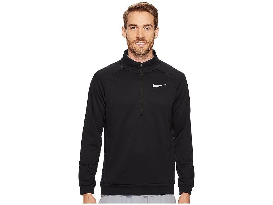 Nike Dry Training 1/4 Zip Top (Black/White) Men
