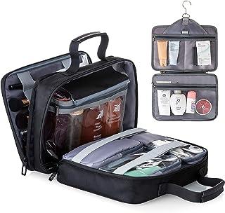 حقيبة أدوات الزينة المعلقة للنساء من ليستون حقائب سفر كبيرة لأدوات التجميل - مجموعة إكسسوارات - منظم مكياج مقاوم للماء