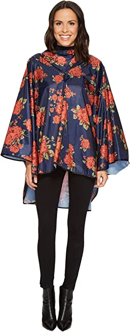 Collection XIIX - Floral Bouquet Rounded Rain Poncho