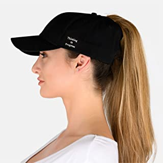 Phrase3 Ponytail Hat - Womens Ponytail Baseball Caps for High Ponytail w/Quote