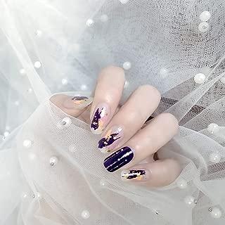Color Lab 2019 Summer 22PCS ADHESION Nail Art Transfer Decals Sticker Moon & Star Series DIY Nail Polish Strips,Nail Wraps, 100% Real Nail polish applique for Manicure,S00802 Shooting Star