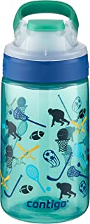 Contigo AUTOSEAL Gizmo Sip Kids Water Bottle, 14 oz, Jungle Green All American