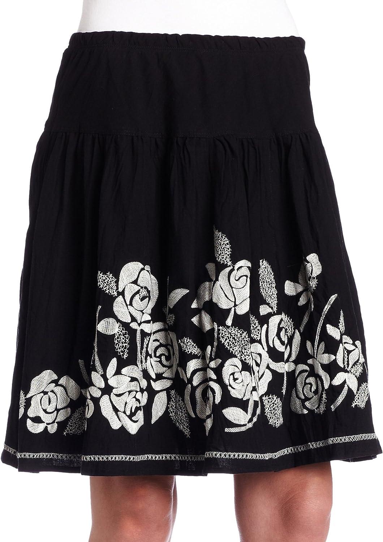 Karen Kane Women's Rose Embroidered Skirt