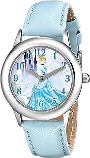 ساعة ديزني كيدز W001598 سندريلا ستانلس ستيل بسوار جلد ازرق