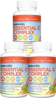 Paleovalley: Essential C Complex - Vitamin C Food Supplement with Organic Superfoods for Immune Support - 3 Pack - 450 mg ...