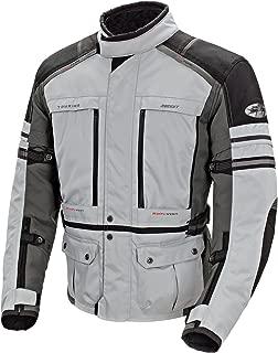 Joe Rocket 1514-2602 Ballistic Adventure Men's Textile Touring Motorcycle Jacket (Silver/Gunmetal, Small)