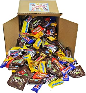 Chocolate Variety Pack - Bulk Candy - Fun Size Candy - All Your Favorite Chocolate Bars Including M&M, Snickers, Twix and More In 8x8x7 Bulk Box, 7 LB