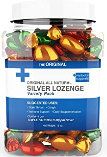 Lozenges Original All Natural Silver Lozenges - Variety Pack: The Perfect Cough Drop for Cough, Throat & Mouth Health and Immune Support - Contains 30ppm Silver Solution in Each Drop
