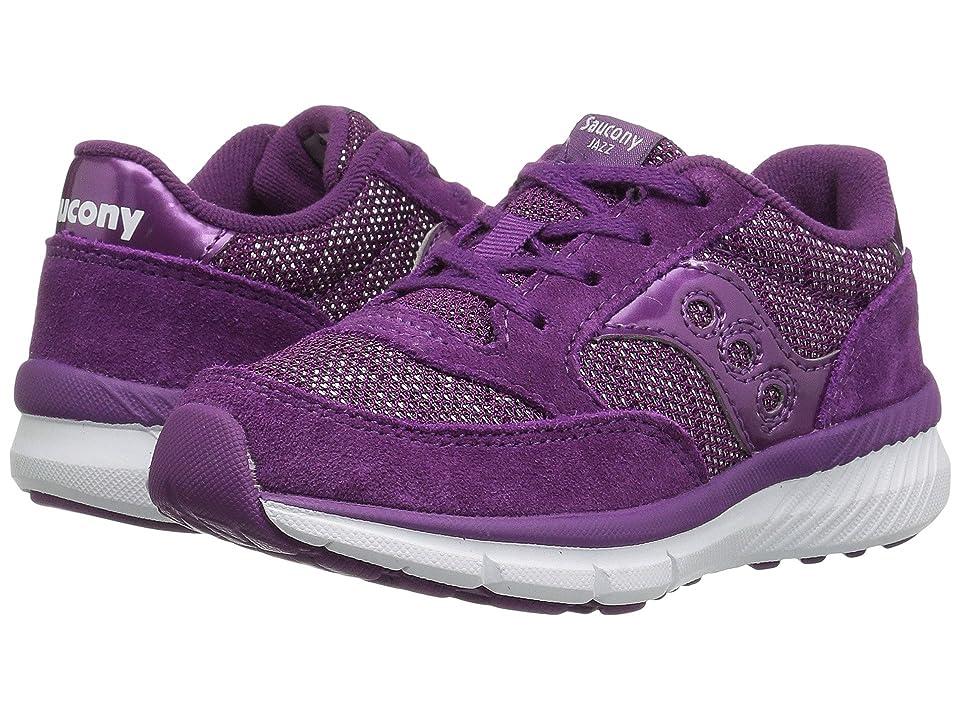 Saucony Kids Jazz Lite (Little Kid/Big Kid) (Purple Metallic) Girls Shoes