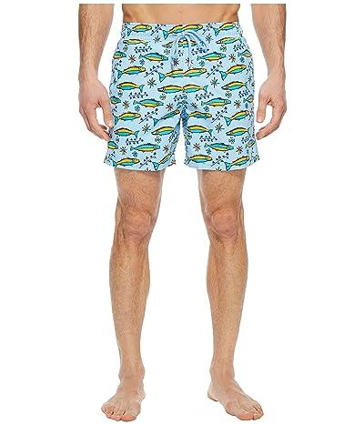 Vilebrequin Moorea Sardine Swim Trunk (Sky Blue) Men