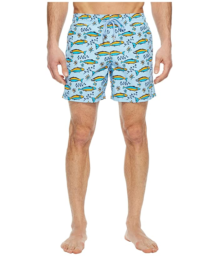 Vilebrequin Moorea Sardine Swim Trunk (Sky Blue) Men