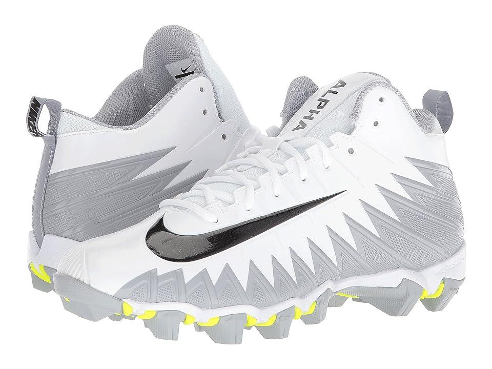 Nike Alpha Menace Shark (White/Black/Metallic Silver/Wolf Grey) Men