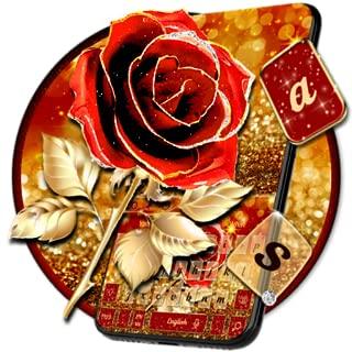 Red Gold Rose Keyboard Theme