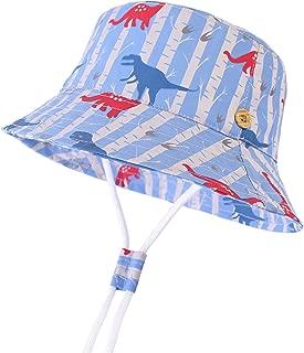 LANGZHEN Kids Sun Protection hat Cotton Toddler Boys Girls Bucket hat