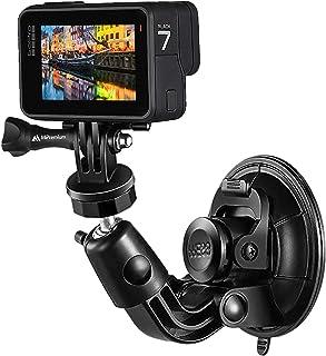 MiPremium Car Suction Cup Mount for GoPro Hero 9 8 7 6 5 4 3 3+ 2 Session Black Silver XIAOYI 4K SJCAM Yi EKEN Sports Acti...