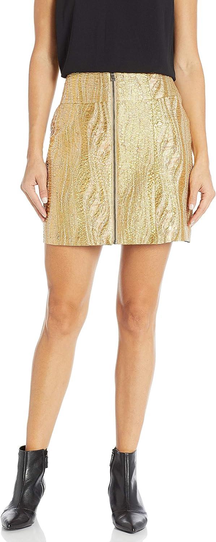 BCBGMAXAZRIA Women's Metallic Mini Pencil Skirt