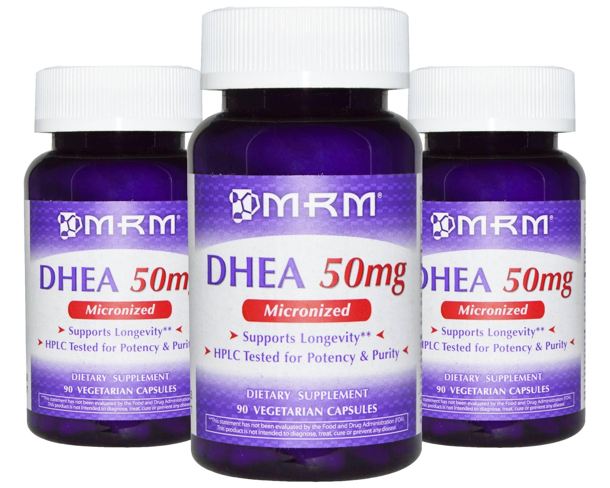 MRM DHEA 50mg Capsules Pack