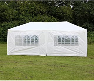 Palm Springs Outdoor 10 x 20 Wedding Party Tent Canopy (10' x 20' with 6 Sidewalls W/Protective Flooring)