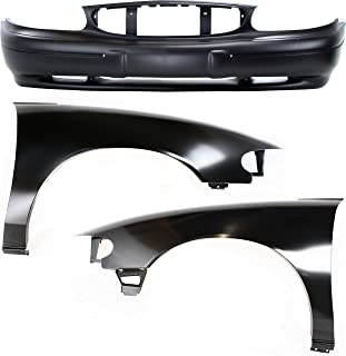 Bumper Kit Compatible with BUICK Century 1997-2003 Set of 3 With Front Bumper Cover and Fender (Right and Left Side)