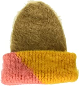 Color Block Woven Beanie
