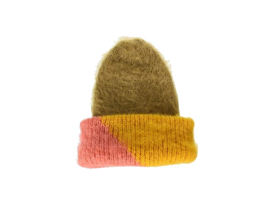 Steve Madden Color Block Woven Beanie (Camel) Beanies