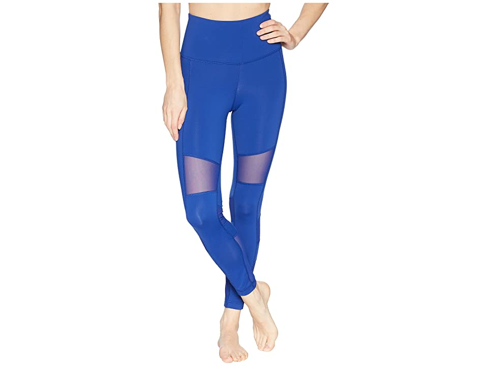 Reebok Lux Mesh High-Rise Tights (Blue) Women