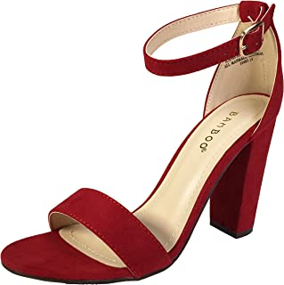 b2a61417b6bd9 Amazon.com: Under $25 - Red / Heeled Sandals / Sandals: Clothing ...