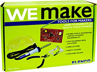 S.T.E.A.M. Line Toys Elenco WeMake FM Radio Soldering Kit with Tools
