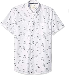 Amazon Brand - Goodthreads Men's Short-Sleeve Printed Poplin Shirt