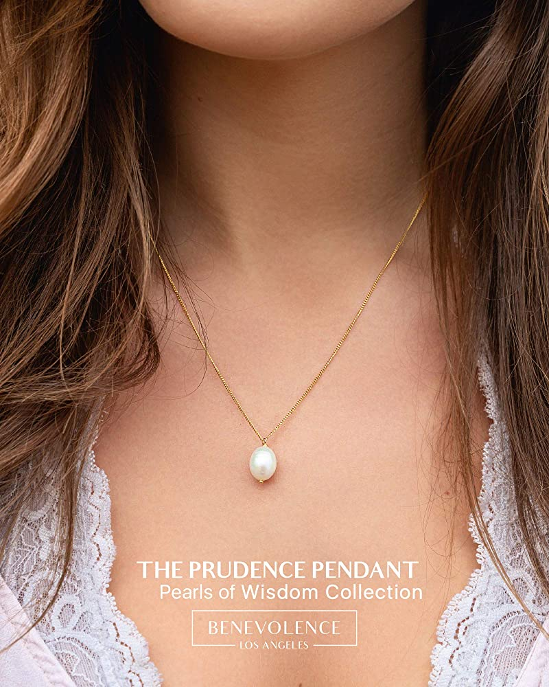 Single Pearl Necklace for Women   White Dainty Pearl Drop Pendant, 18k Gold  Dipped   Elegant Gold Chain Necklace, Perfect for Layering   18k Gold ...
