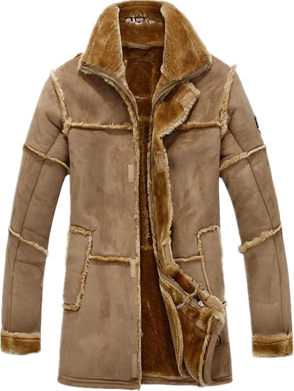 Allonly Men's free Vintage Houston Mall Sheepskin Leather Fur Jacket Cashme