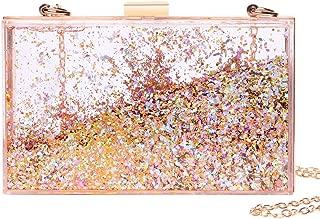 JeVenis Magical Transparent Sequins Clutch Purse Evening Handbag For Party Prom Bride
