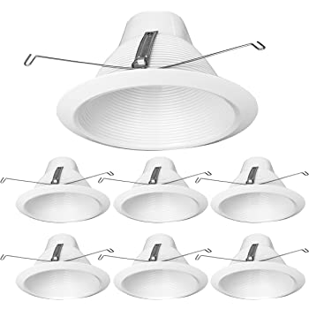 6 6 EATON HALO 6120WH White Full Cone Reflector with White Recessed Trim