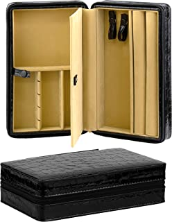 Noble Jewelry Organizer and Accessories Travel Case Holder for Necklace, Earrings, Rings, Watch and More (Large)