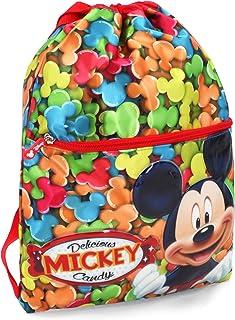 Mickey Mouse Delicious Bolsas con Cordón, 42 cm, Rojo