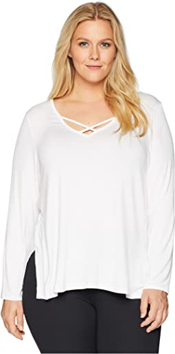 Plus Size Cross Me Once Pullover