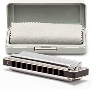 Harmonica, Key of C 10 Holes 20 Tones Blues Harmonica Perfect for Beginners, Professional and Students