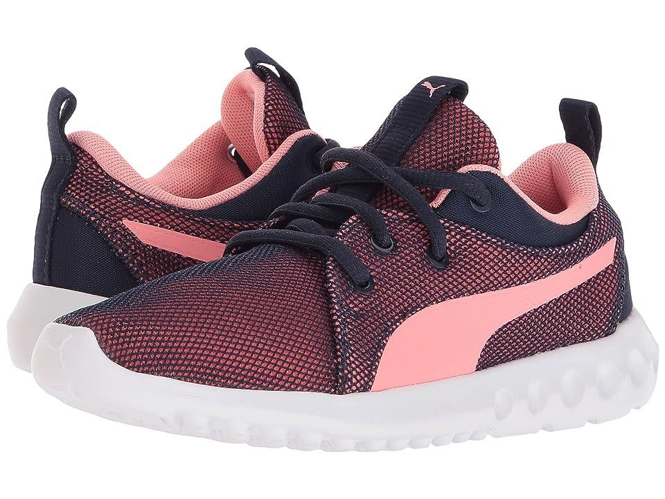 Puma Kids Caron 2 Breathe (Little Kid) (Peacoat/Soft Fluo Peach) Girls Shoes