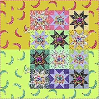 Tula Pink Fruit Salad Quilt Kit Featuring Tula Pink Monkey Wrench Fabric (Top and Binding)