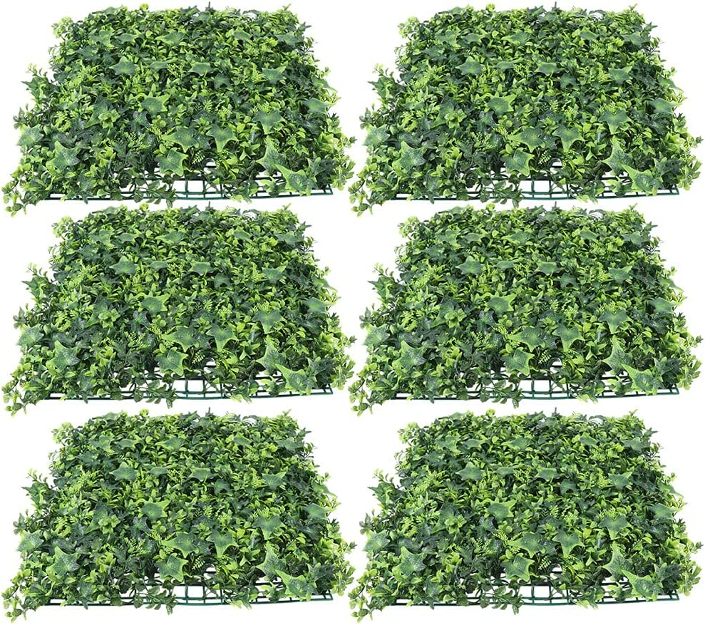 """20"""" x Artificial Silk Plant Wall De Our shop OFFers the best service Green Cheap mail order shopping 6 pcs Panel Indoor"""